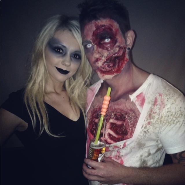 Couple Halloween Face Makeup Couple Halloween Zip Face